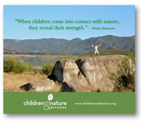 Children in contact with nature