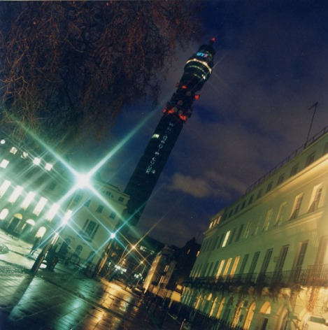 Projecting the Genie url onto the BT Tower for the launch of GMusic Live