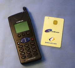 The Barclaycard BT Cellnet phone