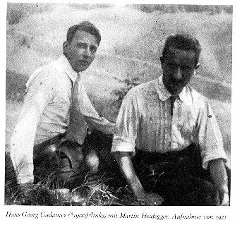 Gadamer and Heidegger