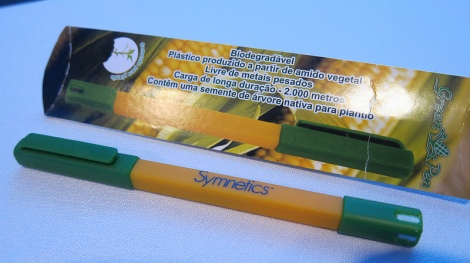 All delegates received a biodegradable pen which also contained a seed which delegates would be able to plant.