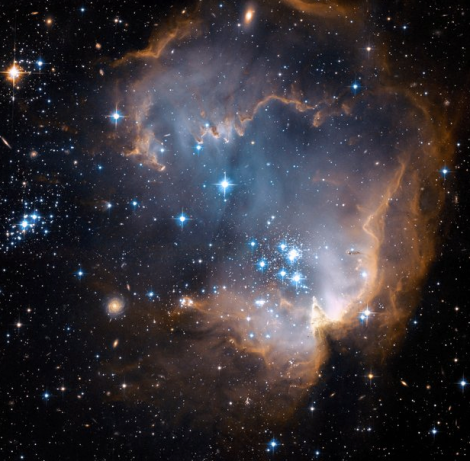 ubble's view of N90 star-forming region. Credit: NASA