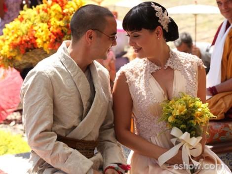 Joia Rara  Matilde (Fabiula Nascimento) e Sonan (Caio Blat)