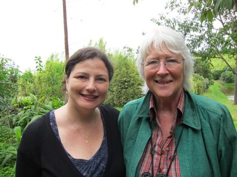 Maria with Sara Parkin