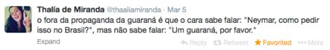 Thalía de Miranda tweet