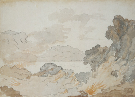 Goethe's sketch of Mount Etna