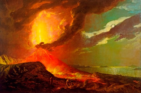 Vesuvius in Eruption, with a View over the Islands in the Bay of Naples c. 1776-80. Credit: Tate, London 2013