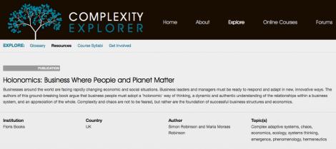 Holonomics and Complexity Explorer