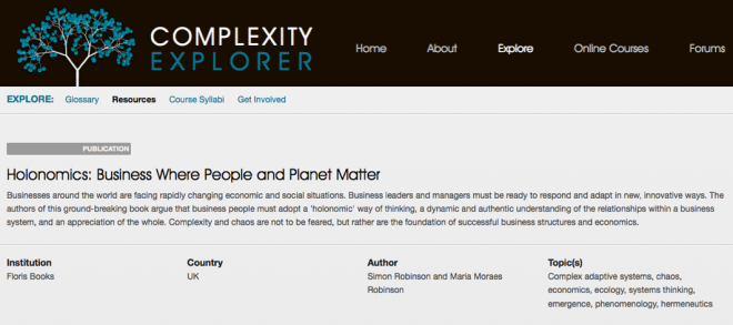 Holonomics and Complexity Explorer