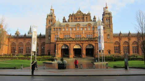 Maria outside Kelvingrove Museum